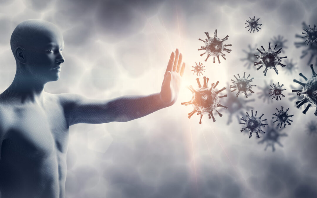 immune health graphic with man