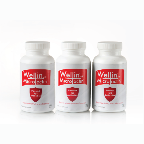three bottles of wellin supplement