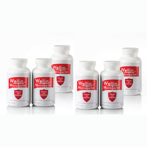 six bottles of wellin supplement